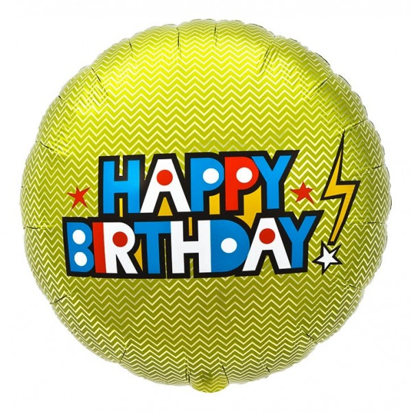 Northstar Folienballon Happy Birthday Bolt 18""