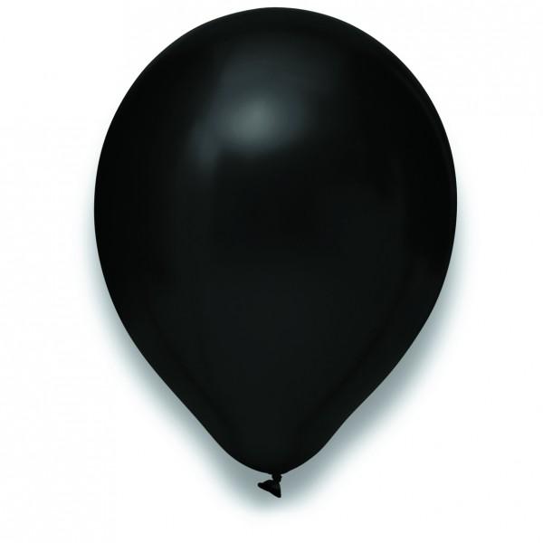 "Globos Luftballons Metallic Schwarz Naturlatex 30cm/12"" 100er Packung"
