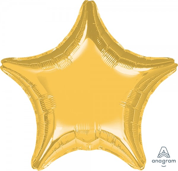 "Anagram Folienballon Jumbo Stern Metallic Gold 80cm/32"""