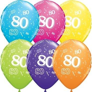 "Qualatex Latexballon 80-A-Round Tropical Assortment 28cm/11"" 25 Stück"