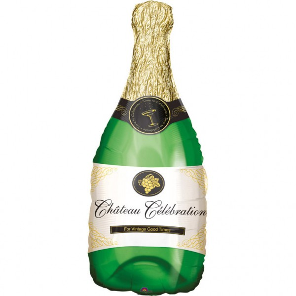 """Anagram Riesenluftballon """"Champagnerflasche"""" 90cm/36"""""""