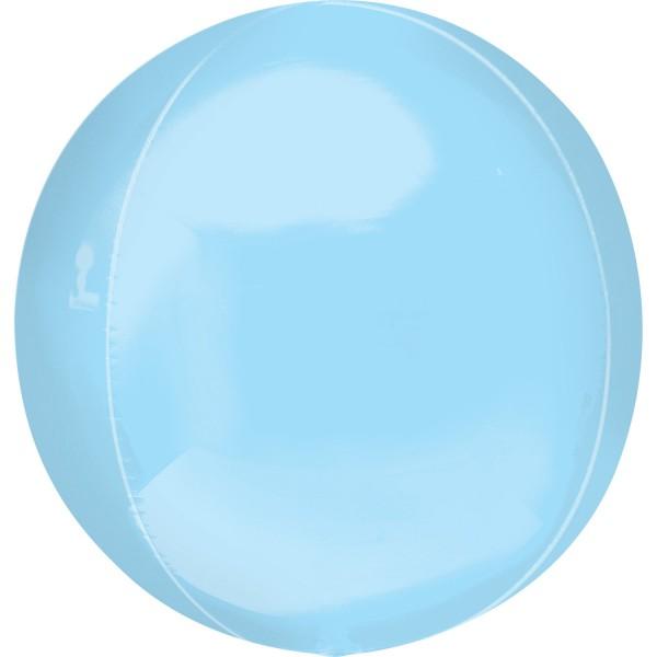 "Anagram Folienballon Orbz Pastel Blue 40cm/16"""