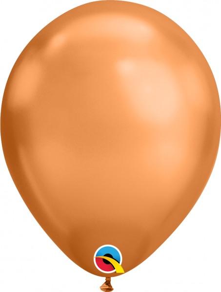 "Qualatex Latexballon Chrome Copper 28cm/11"" 100 Stück"
