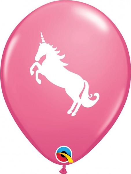 "Qualatex Latexballon Unicorn 28cm/11"" 6 Stück"