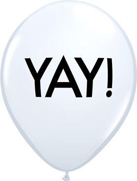 "Qualatex Latexballon Simply Yay! White 28cm/11"" 6 Stück"
