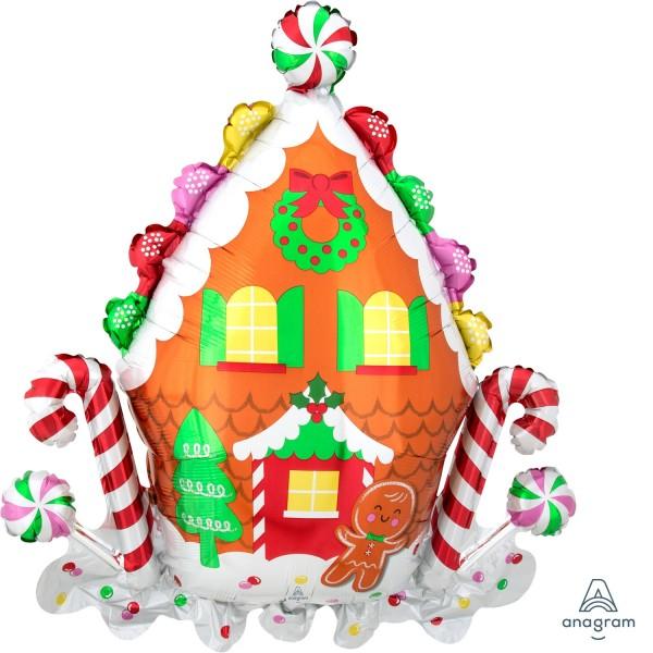 "Anagram Folienballon Supershape Gingerbread House 76cm/30"""