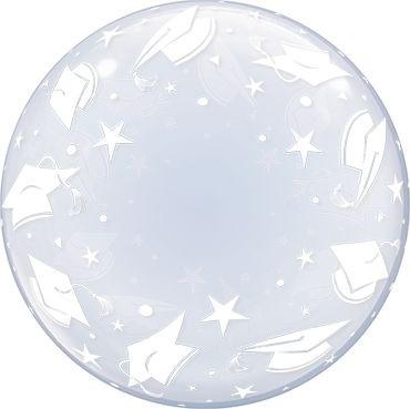"""Qualatex Bubbles Deco Bubble Graduation Caps 60cm/24"""""""