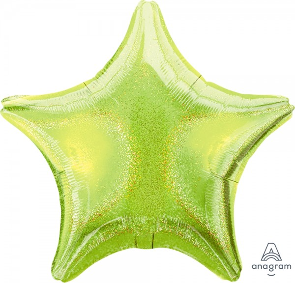"Anagram Folienballon Stern Lime Green Dazzler 50cm/20"""