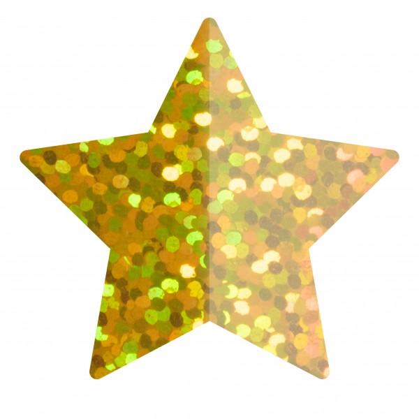 Goodtimes Folienkonfetti 1,7cm Stern 100g Holo Gold