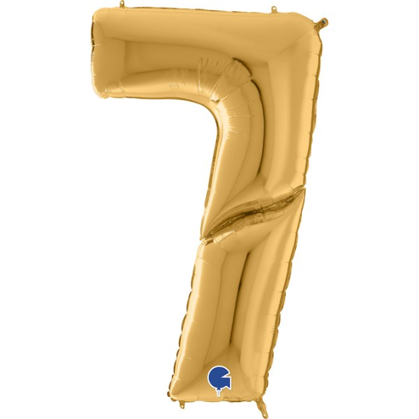 "Grabo Folienballon Zahl 7 Gold 160cm/64"""