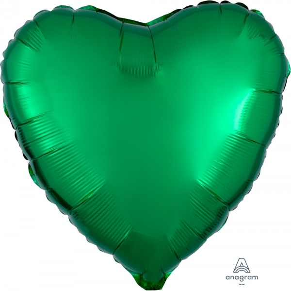 Anagram Folienballon Herz Metallic Green 45cm/18""