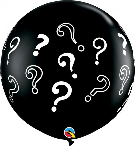 "Qualatex Latexballon Fashion Question Marks Onyx Black 90cm/36"" 2 Stück"