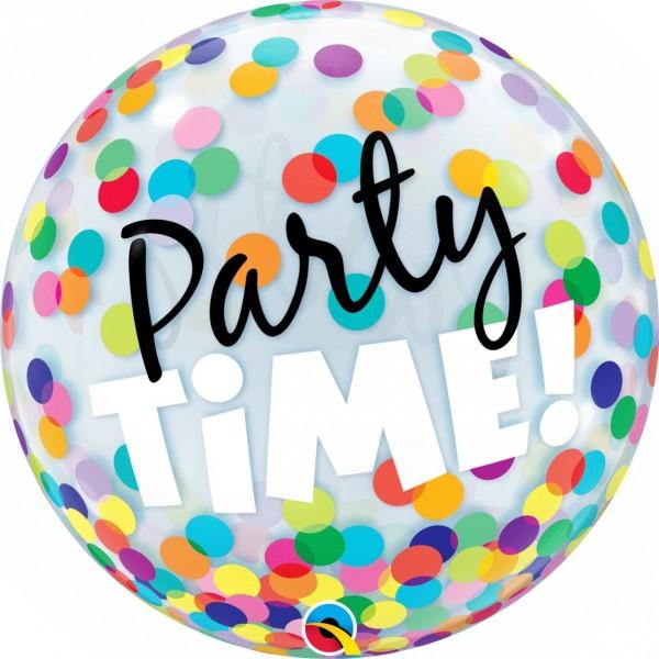 """Qualatex Bubbles Party Time! Colorful Dots 55cm/22"""""""