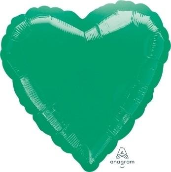 Anagram Folienballon Herz 45cm Durchmesser Metallic Grün (Metallic Green)