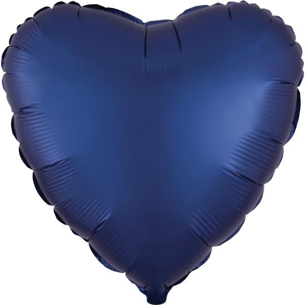"""Anagram Folienballon Herz Satin Luxe Dunkelblau (Navy) 45cm/18"""""""