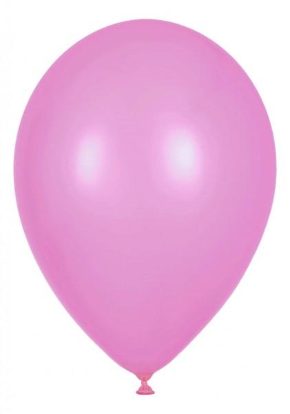 """Globos Luftballons Pearl Rosa Naturlatex 30cm/12"""" 100er Packung"""