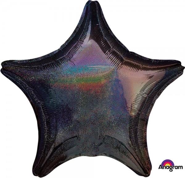 "Anagram Folienballon Stern Black Dazzler 50cm/20"""