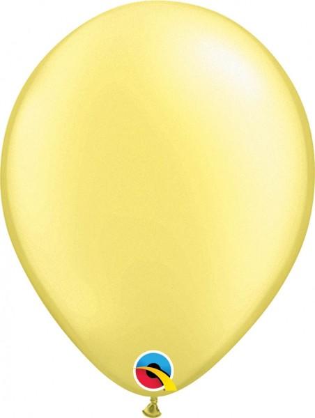 "Qualatex Latexballon Pastel Pearl Lemon Chiffon 28cm/11"" 100 Stück"