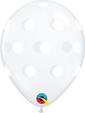 "Qualatex Latexballon Big Polka Dots Diamond Clear 13cm/5"" 100 Stück"