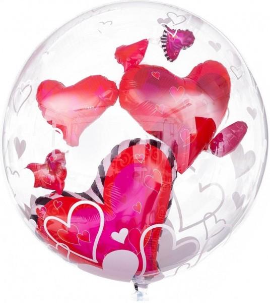 """Qualatex Bubbles Double Bubble Lovely Hearts 60cm/24"""""""