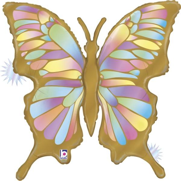 "Betallic Folienballon Opal Butterfly 85cm/33"""