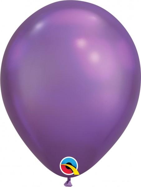 "Qualatex Latexballon Chrome Purple 28cm/11"" 25 Stück"