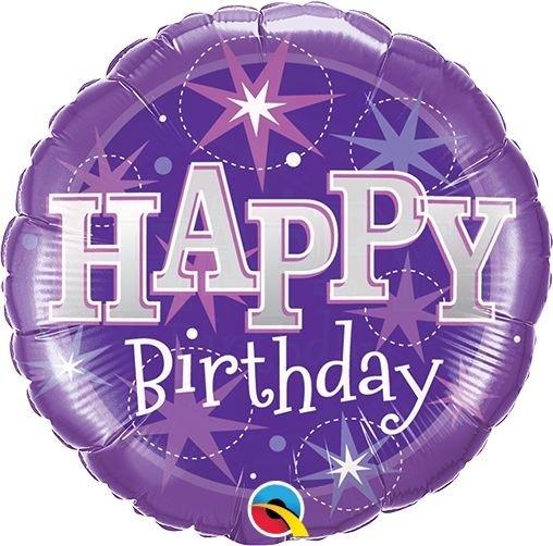 "Qualatex Folienballon Happy Birthday Pink 23cm/9"" luftgefüllt inkl. Stab"