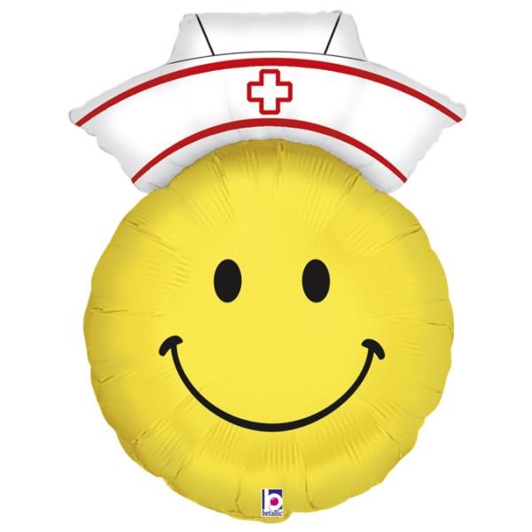 "Betallic Folienballon Smiley Nurse 71cm/28"""