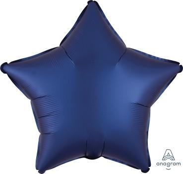 Anagram Folienballon Stern 50cm Durchmesser Satin Luxe Dunkelblau (Navy)