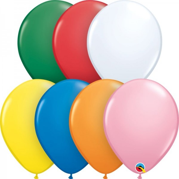"Qualatex Latexballon Standard Assortment with White 28cm/11"" 100 Stück"