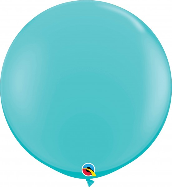 Qualatex Latexballon Fashion Caribbean Blue 90cm/3' 2 Stück