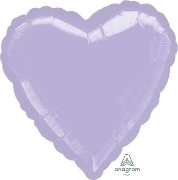 Anagram Folienballon Herz 45cm Durchmesser Metallic Pearl Pastell Flieder (Metallic Pearl Pastel Lilac)