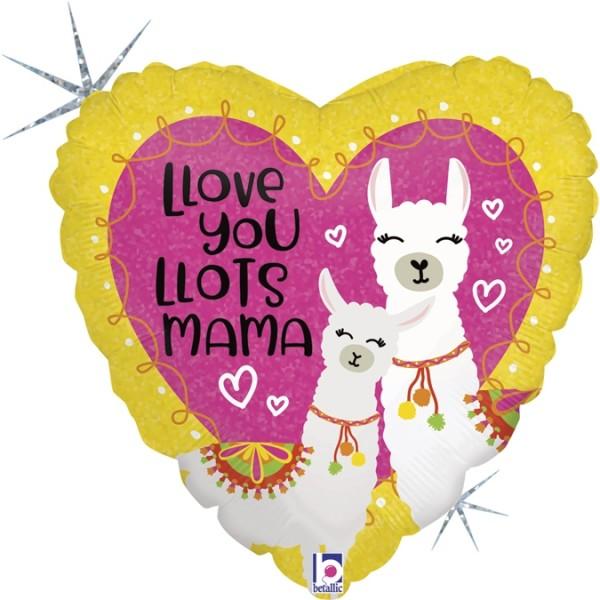 "Betallic Folienballon Llove you Mama Llama 45cm/18"""