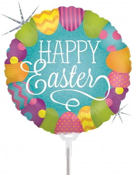 """Betallic Folienballon Easter Egg Hunt Holographic 23cm/9"""" luftgefüllt inkl. Stab"""