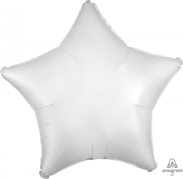"Anagram Folienballon Stern Satin Weiß (White) 50cm/20"""