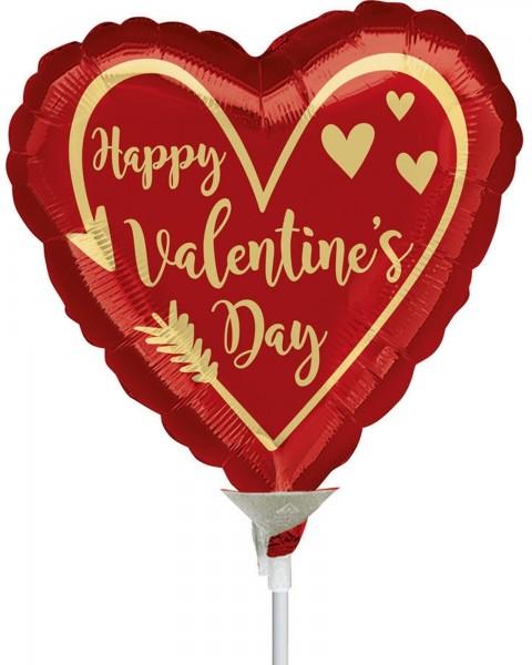 "Anagram Folienballon Arrow Heart 23cm/9"" luftgefüllt inkl. Stab"