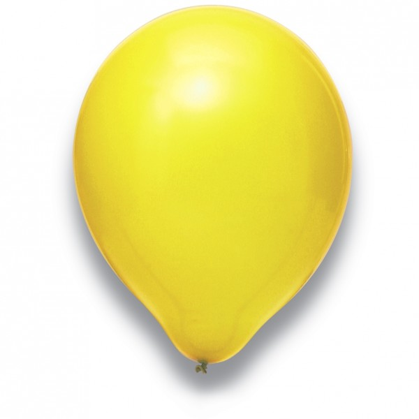 "Globos Luftballons Gelb Naturlatex 30cm/12"" 100er Packung"