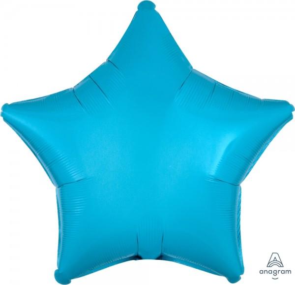 "Anagram Folienballon Stern Caribbean Blue 50cm/20"""
