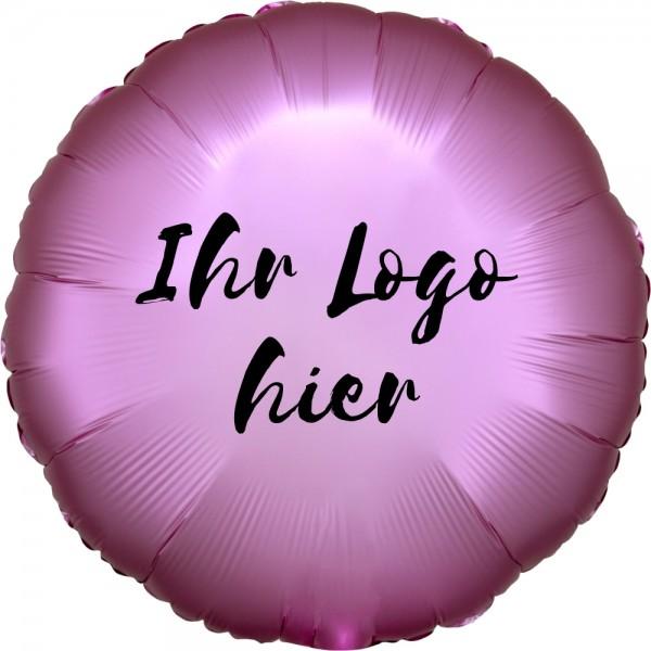 """Folien-Werbeballon Rund Satin Luxe Flamingo 45cm/18"""" 1-Seitig bedruckt"""