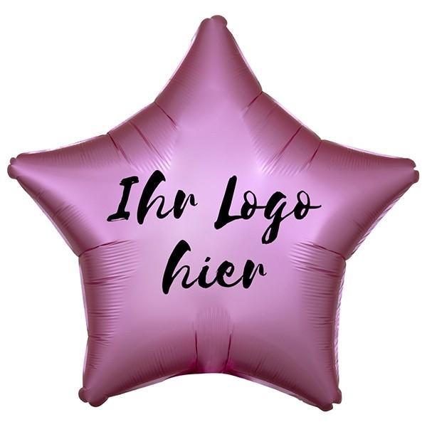 "Folien-Werbeballon Stern Satin Luxe Flamingo 50cm/20"" 1-Seitig bedruckt"