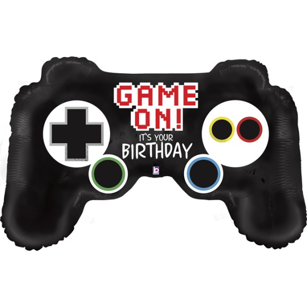 Betallic Folienballon Game Controller Birthday 90cm/36""