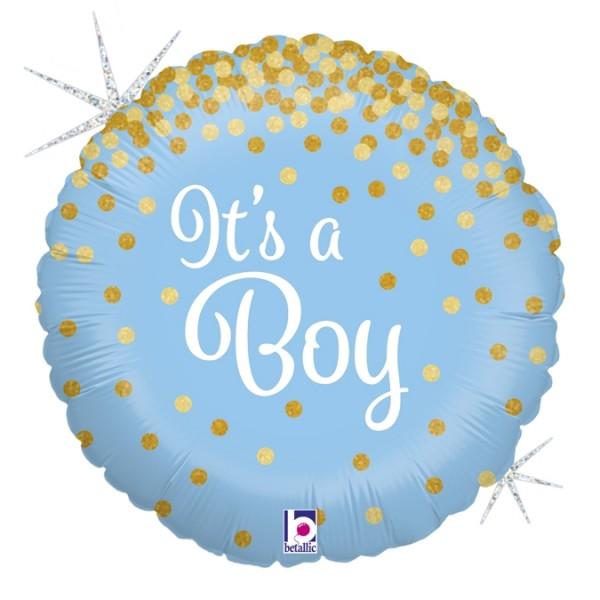 "Betallic Folienballon Glittering It's a Boy Holo 45cm/18"""