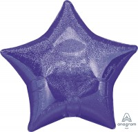 "Anagram Folienballon Stern Purple Dazzler 50cm/20"""