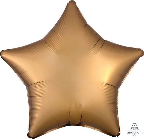 "Anagram Folienballon Stern Satin Gold 50cm/20"""