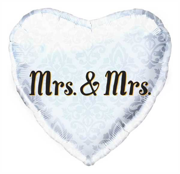 Northstar Folienballon Mrs. & Mrs. Heart 45cm/18""