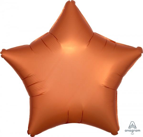 """Anagram Folienballon Stern Satin Kupfer (Amber) 50cm/20"""""""