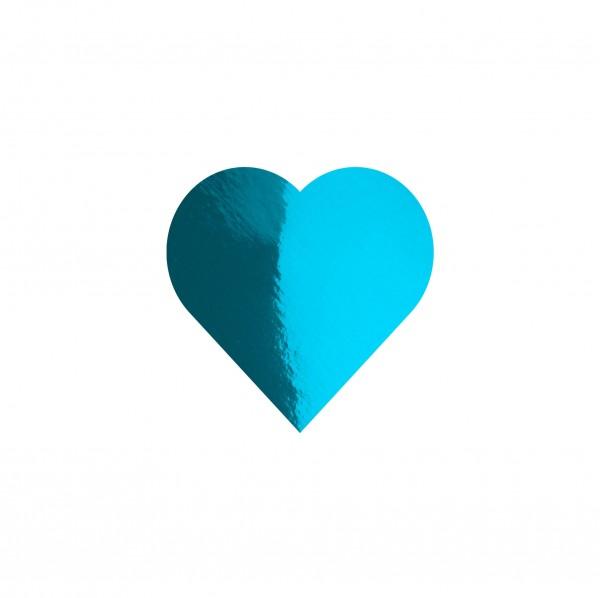 Goodtimes Folienkonfetti 1,7cm Herz 100g Hellblau