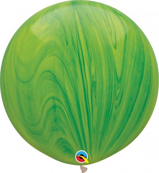 "Qualatex Latexballon Green Rainbow SuperAgate 75cm/30"" 2 Stück"