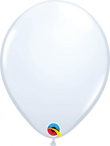 "Qualatex Latexballon Standard White 28cm/11"" 100 Stück"