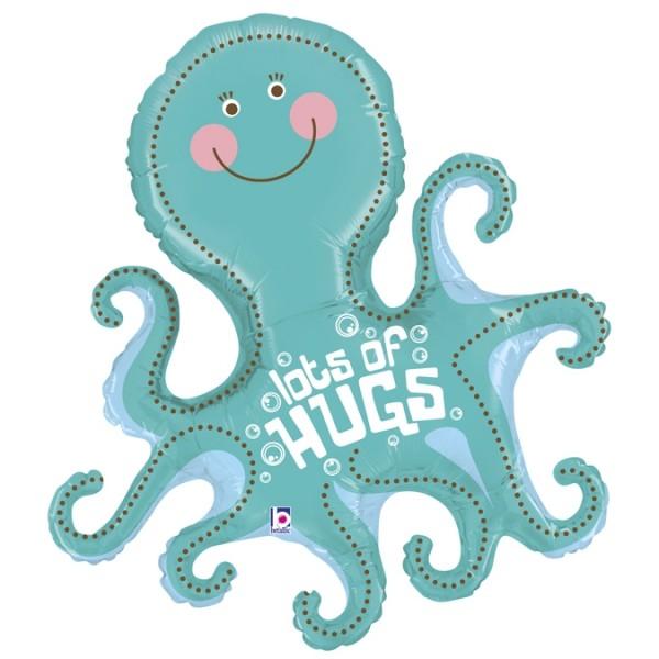 """Betallic Folienballon Lots of Hugs Octopus 95cm/37"""""""